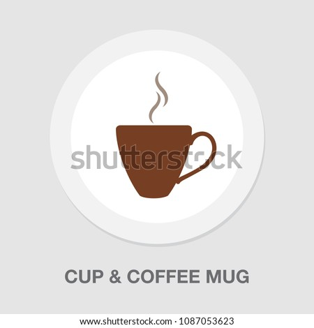 tea cup icon - vector coffee mug illustration