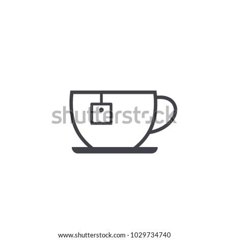 tea cup icon vector Eps10