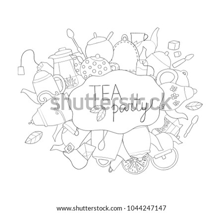 Tea Party Coloring Page | Home Design Plan