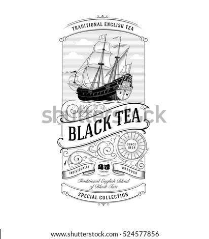 Tea Label Vintage Logo
