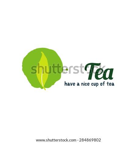 Tea leaf logo illustration