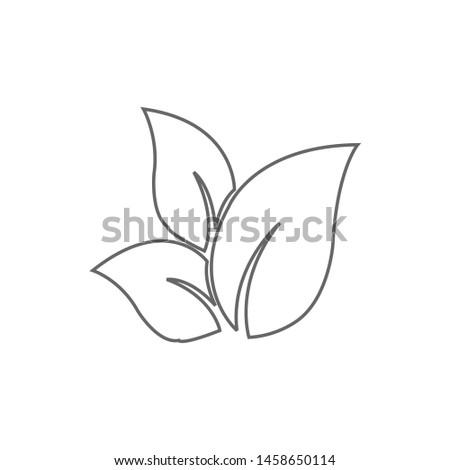 Tea leaf vector symbol. Leaf symbol symbol icon #1458650114