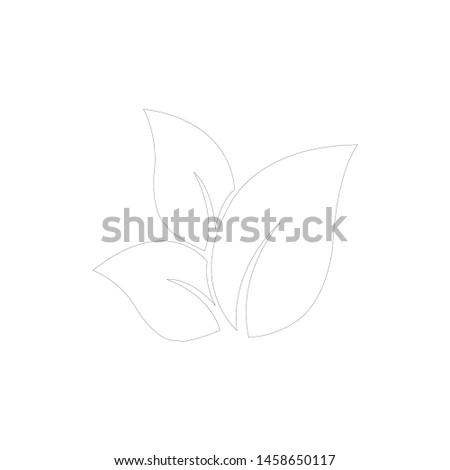 Tea leaf vector symbol. Leaf symbol symbol icon #1458650117