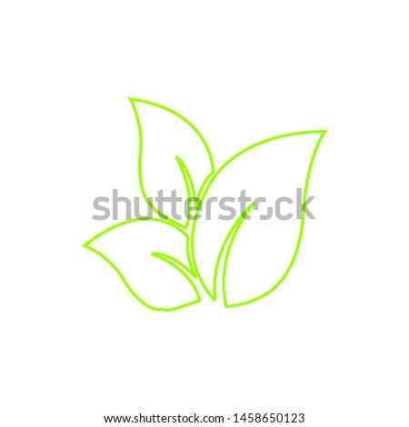 Tea leaf vector symbol. Leaf symbol symbol icon #1458650123