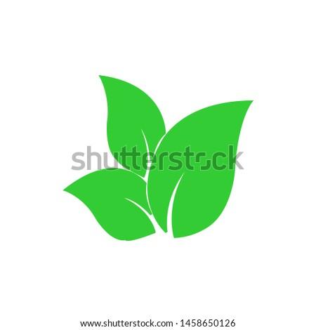 Tea leaf vector symbol. Leaf symbol symbol icon #1458650126