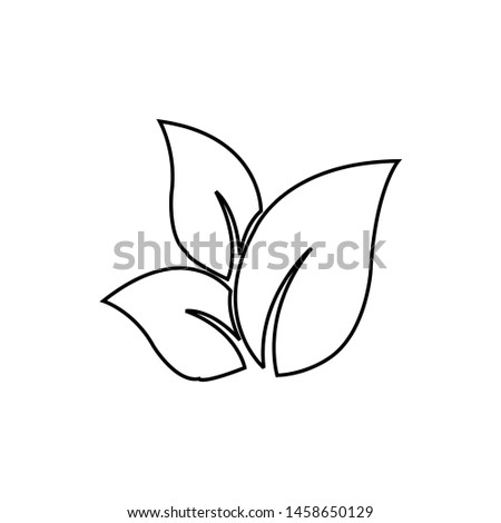 Tea leaf vector symbol. Leaf symbol symbol icon #1458650129