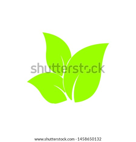 Tea leaf vector symbol. Leaf symbol symbol icon #1458650132