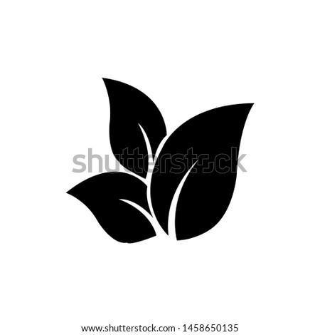 Tea leaf vector symbol. Leaf symbol symbol icon #1458650135