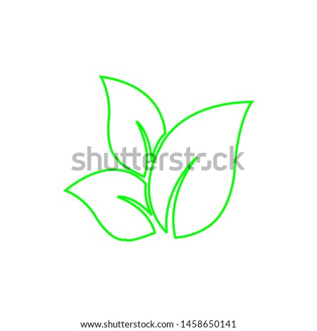 Tea leaf vector symbol. Leaf symbol symbol icon #1458650141
