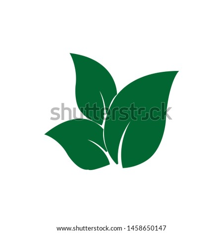 Tea leaf vector symbol. Leaf symbol symbol icon #1458650147