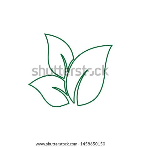 Tea leaf vector symbol. Leaf symbol symbol icon #1458650150