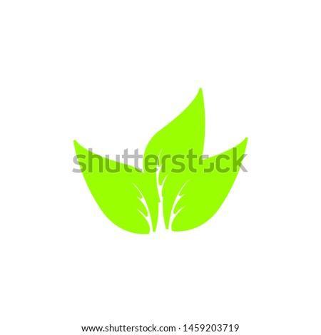 Tea leaf vector symbol. Leaf symbol symbol icon #1459203719