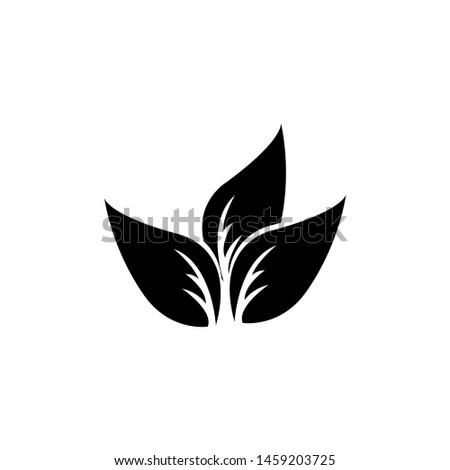 Tea leaf vector symbol. Leaf symbol symbol icon #1459203725