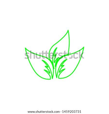 Tea leaf vector symbol. Leaf symbol symbol icon #1459203731