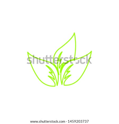 Tea leaf vector symbol. Leaf symbol symbol icon