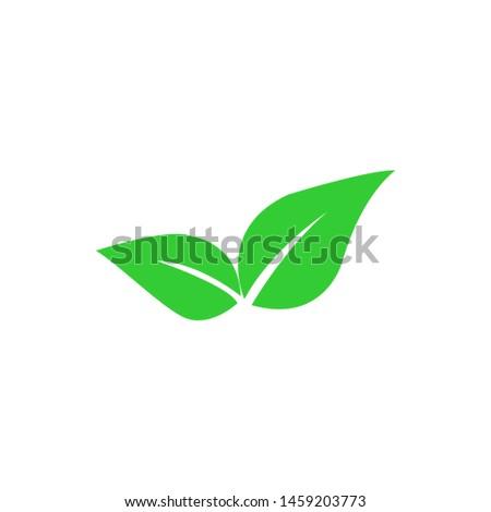 Tea leaf vector symbol. Leaf symbol symbol icon
