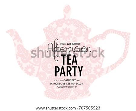 Tea Party Vector Invitations Download Free Vector Art Stock