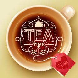 Tea time design template