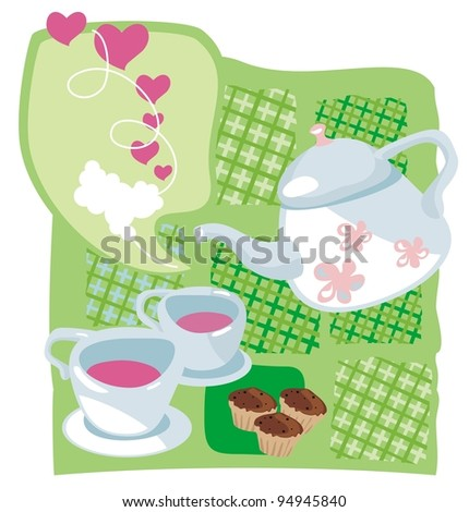 Tea time on Valentine's Day