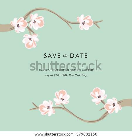 Tea tree - Save the date invitation