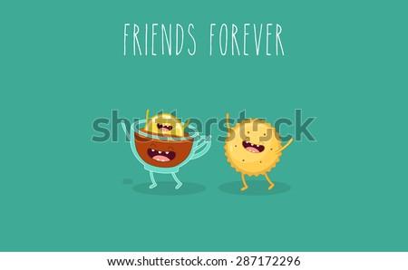 tea with lemon and cookie