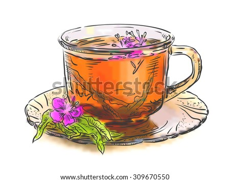 tea with rosebay willowherb in