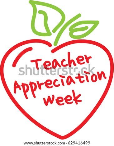 Teacher appreciation week apple heart