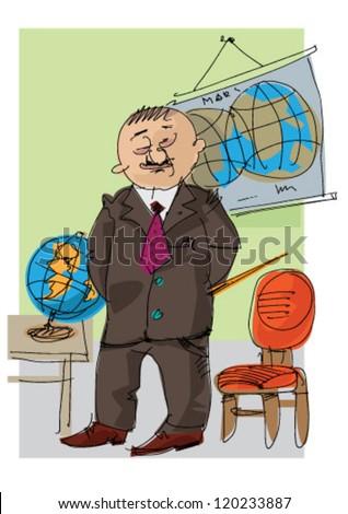 teacher - cartoon