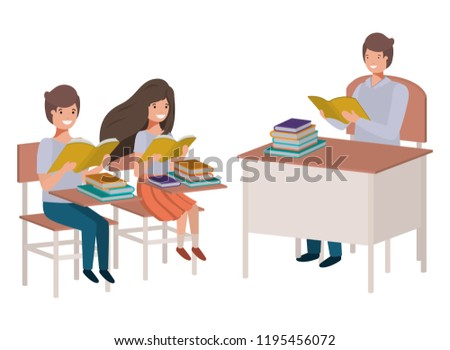 Klassenzimmer lesen - Kostenlose Vektor-Kunst, Archiv-Grafiken ...
