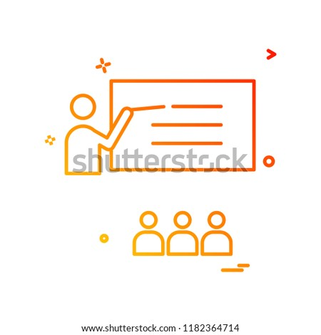 teacher student school icon vector design