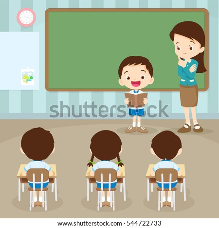 teacher teaching and students...