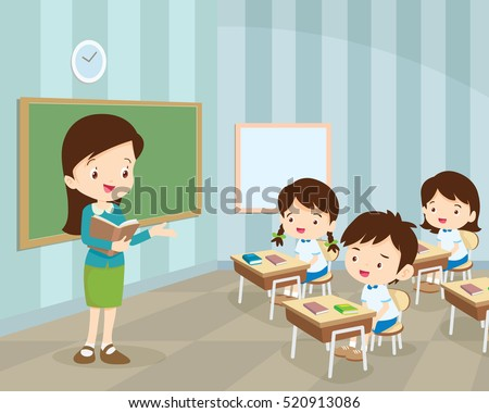 teacher teaching students in