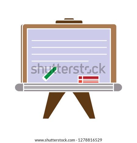 teaching board icon -chalk flat icon-teacher equipment illustration- classroom sign symbol-learning vector-study sign
