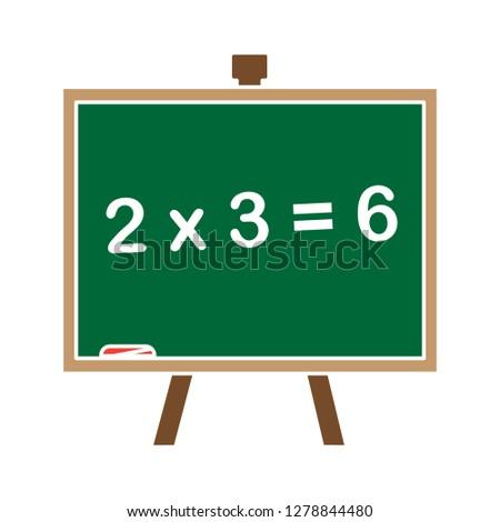 teaching board icon -teaching board icon - blackboard icon - chalk flat icon- map symbol - teacher equipment illustration- classroom sign symbol, learning vector .