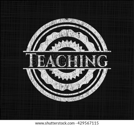 Teaching written with chalkboard texture