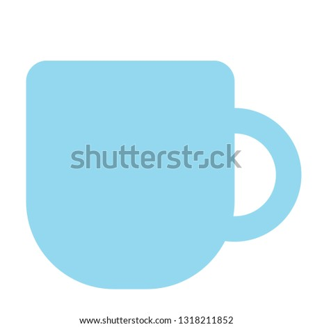 teacup simple simple color illustration. Icon, graphic symbol, part of image design , fruits and kitchen related items