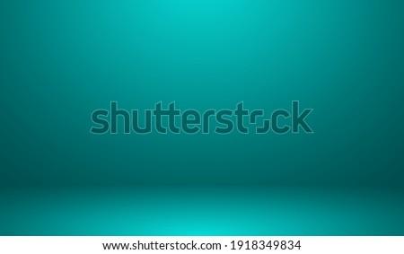Teal Background - Blank Teal Gradient Background Room, Studio, Interior, Space, Under Water Illustration Editable Vector