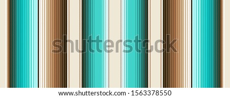 Teal, Brown and Navajo White Southwestern Blanket Stripes Seamless Vector Pattern. Mexican Serape Rug Texture with Threads. Native American Textile. Ethnic Boho Background. Tile Swatch Included. Stockfoto ©