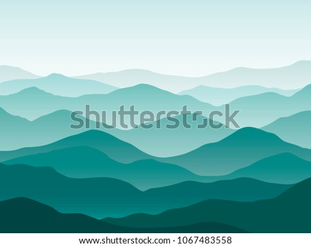 teal gradient nature mountains