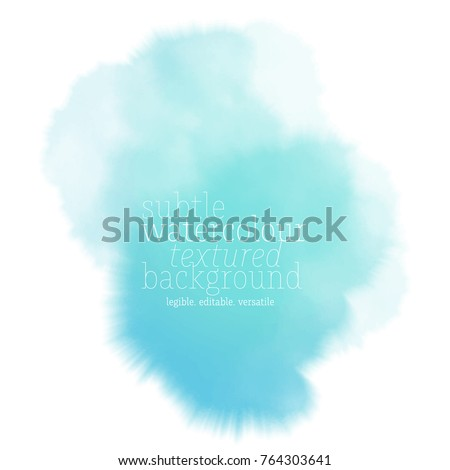 teal water color splash