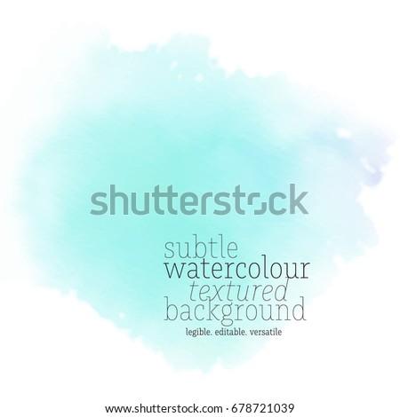 teal watercolor splotch