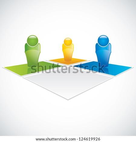 Team business concept. Vector