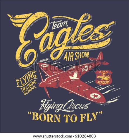 team eagles air show  artwork