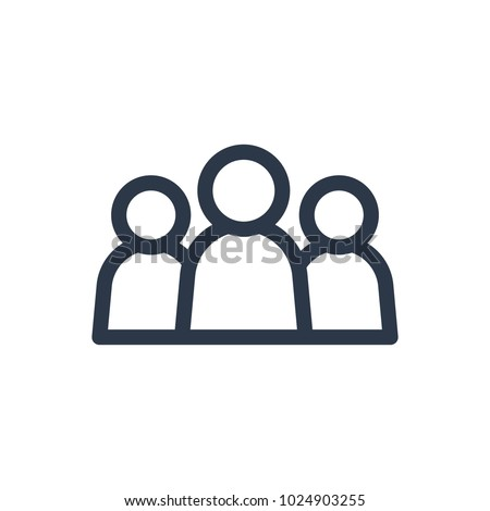 Team icon. Isolated group and team icon line style. Premium quality vector symbol drawing concept for your logo web mobile app UI design.