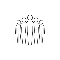 Team icon set, Vector isolated business team line symbol illustration. Crowd of people sign.