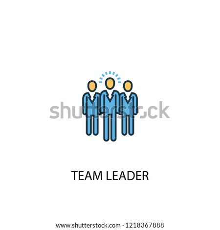 team leader concept 2 colored line icon. Simple yellow and blue element illustration. team leader concept outline symbol design