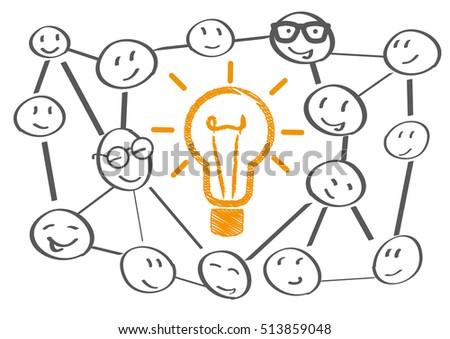 Team Meeting Brainstorming Planning vector illustration