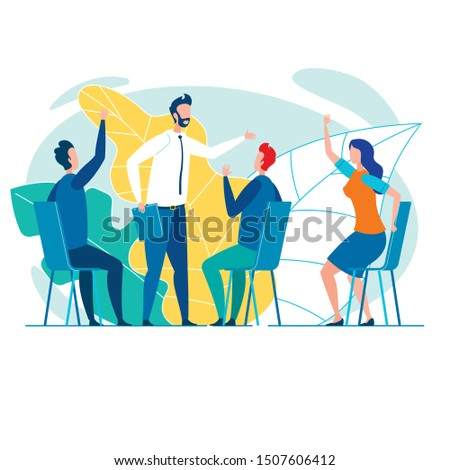 Team of Four Creative Office Workers, Dressed Casually, Brainstorming, Actively Generating and Sharing Ideas, or Searching for Problem Solution All Together in Informal, Easy Office Atmosphere