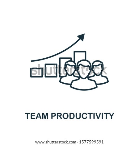 Team Productivity outline icon. Can be used for logo, graphic design and other.