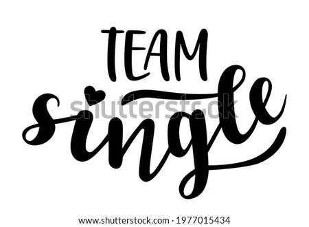 team single hand lettering